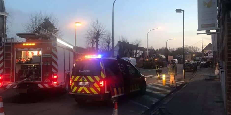 Importante fuite de gaz à Casteau