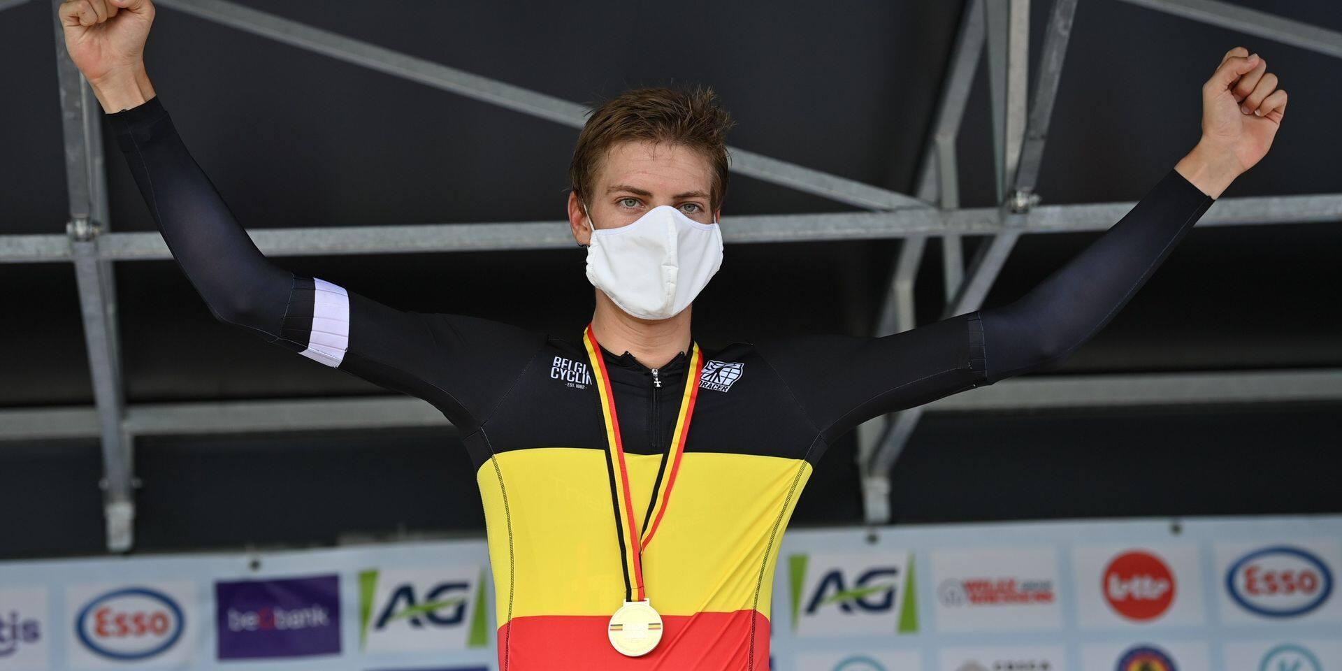 Rutger Wouters sacré champion de Belgique en contre-la montre