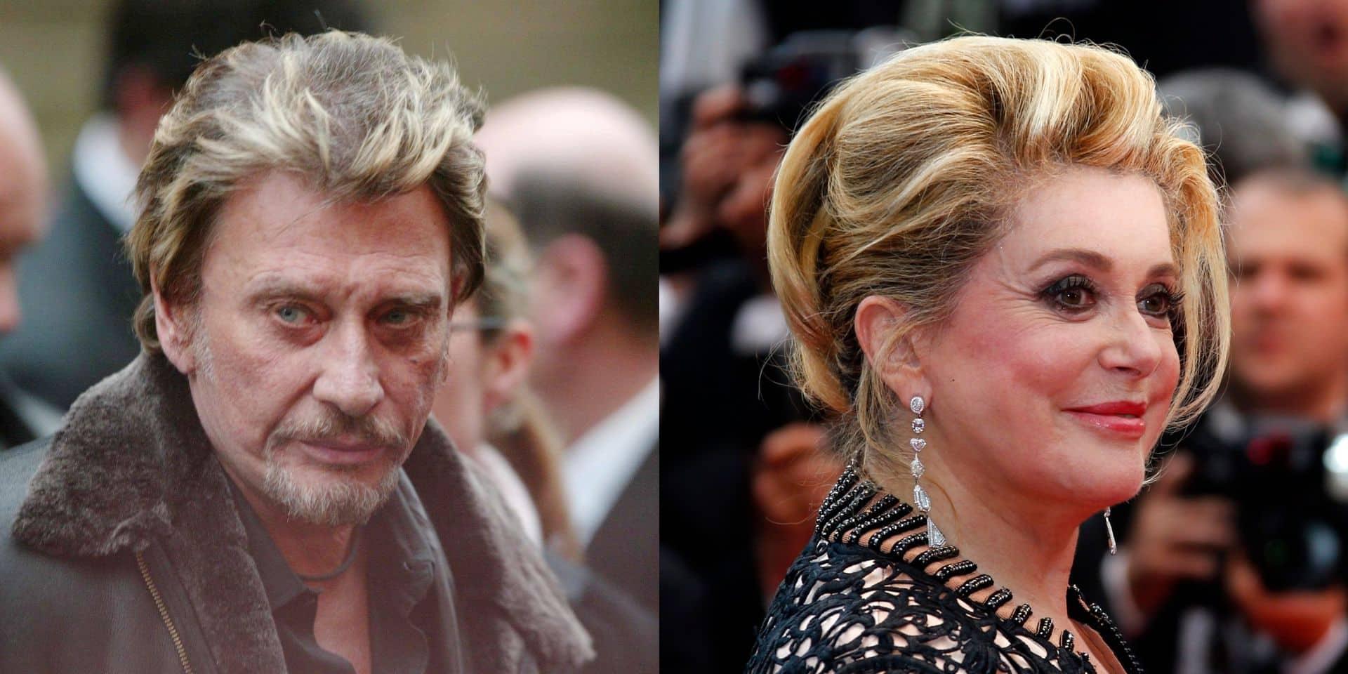 """Entre Johnny Hallyday et Catherine Deneuve, une histoire d'amour fusionnelle vécue """"dans la clandestinité"""""""