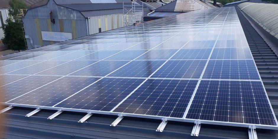 Seraing : 792 panneaux photovoltaïques sur le site d'ArcelorMittal Ringmill