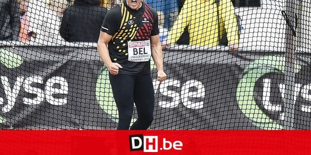 Belgian athlete Philip Milanov in action at the men discus throw on day three of the European Athletics Team Championships First League, Sunday 11 August 2019 in Sandnes, Norway. BELGA PHOTO JASPER JACOBS