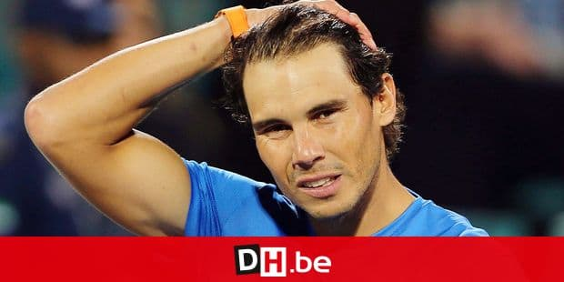 Spain's Rafael Nadal reacts after he lost the semi final match to South Africa's Kevin Anderson during the Mubadala World Tennis Championship in Abu Dhabi, United Arab Emirates, Friday, Dec. 28, 2018. (AP Photo/Kamran Jebreili)