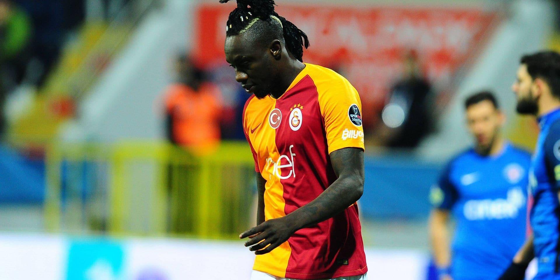 Mbaye Diagne of Galatasaray during the Turkish Super League football match between Kasimpasa and Ga