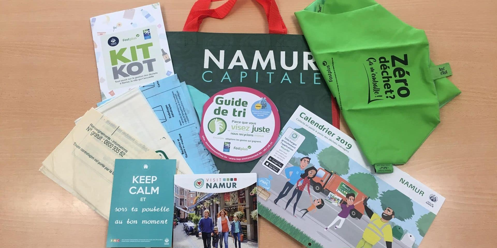 Namur : étudiants briefés sur la gestion des déchets