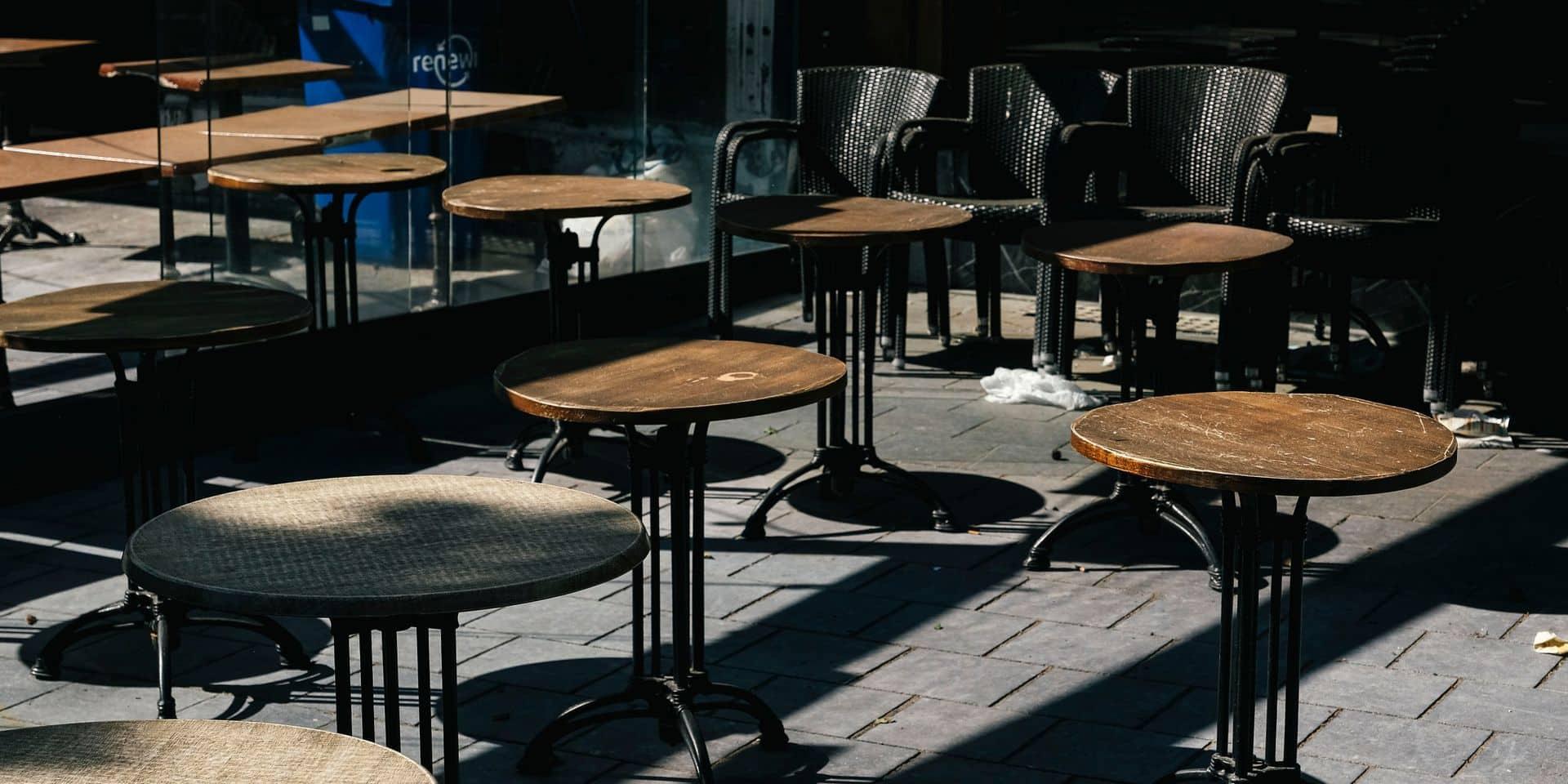 Horeca: la réouverture des terrasses est envisagée pour la Fête des mères