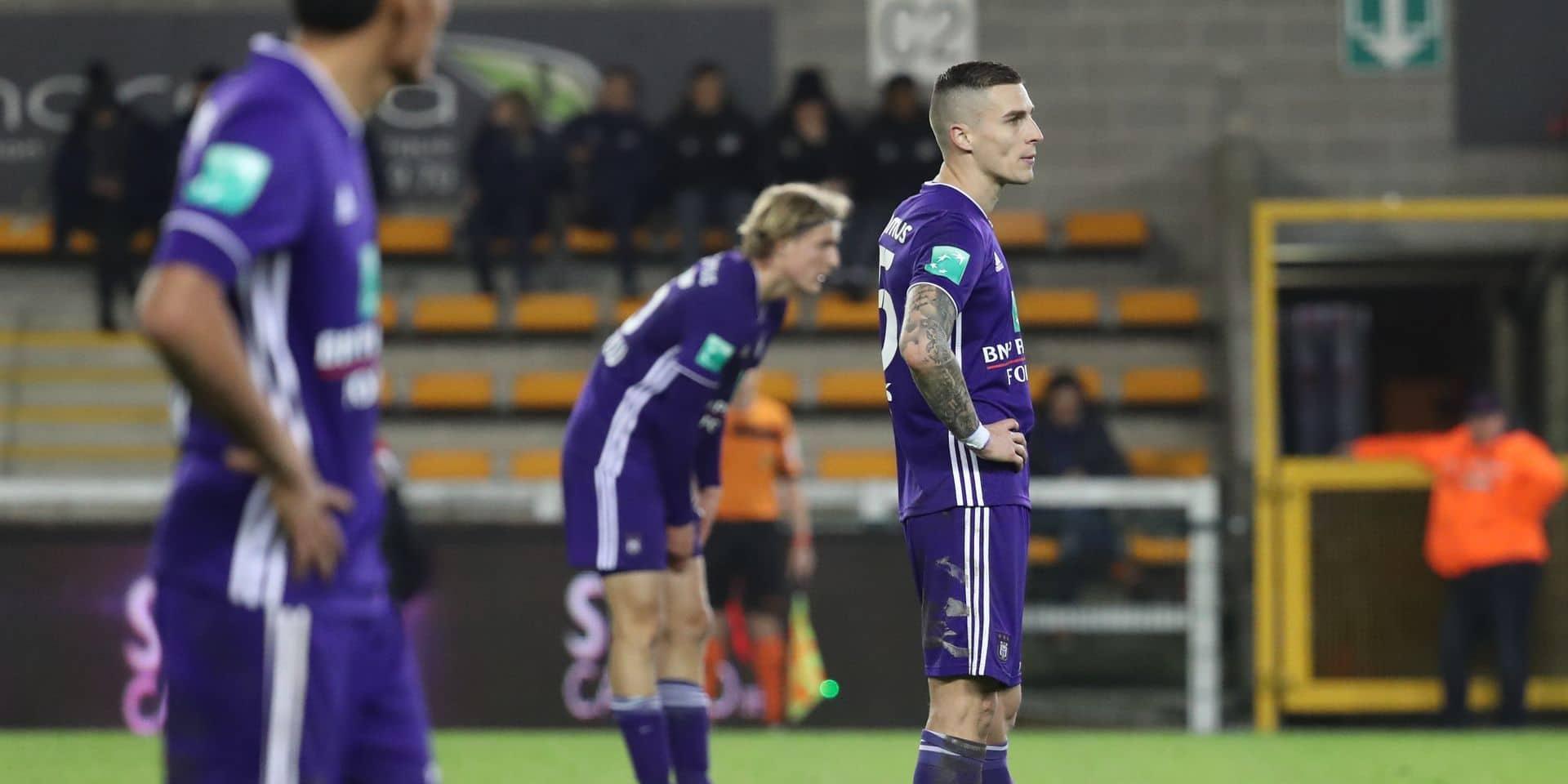 Dominé dans le jeu, Anderlecht s'incline logiquement à Mouscron (3-1)