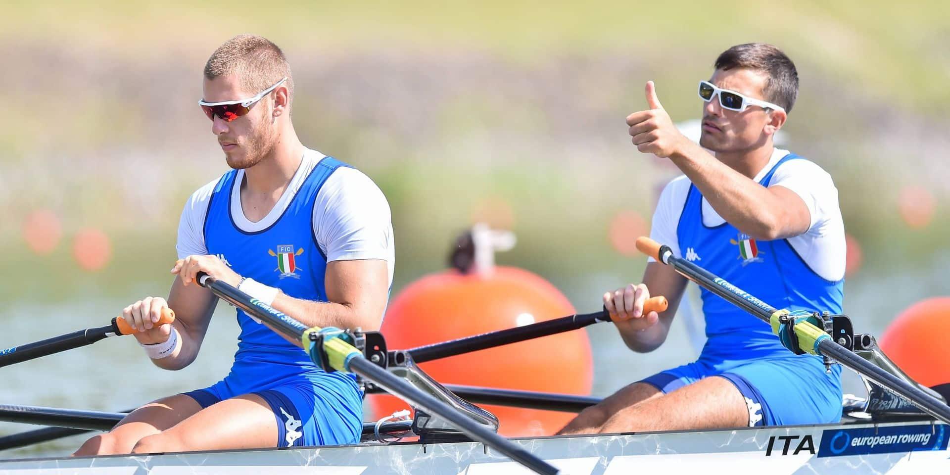 Filippo Mondelli à droite, et Luca Rambaldi.