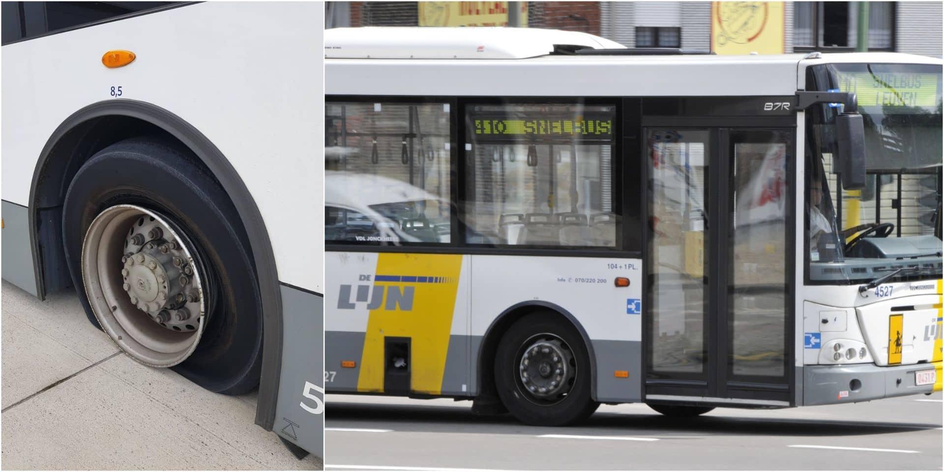 """100 bus De Lijn vandalisés dans la nuit de lundi à mardi: """"Du jamais-vu"""""""