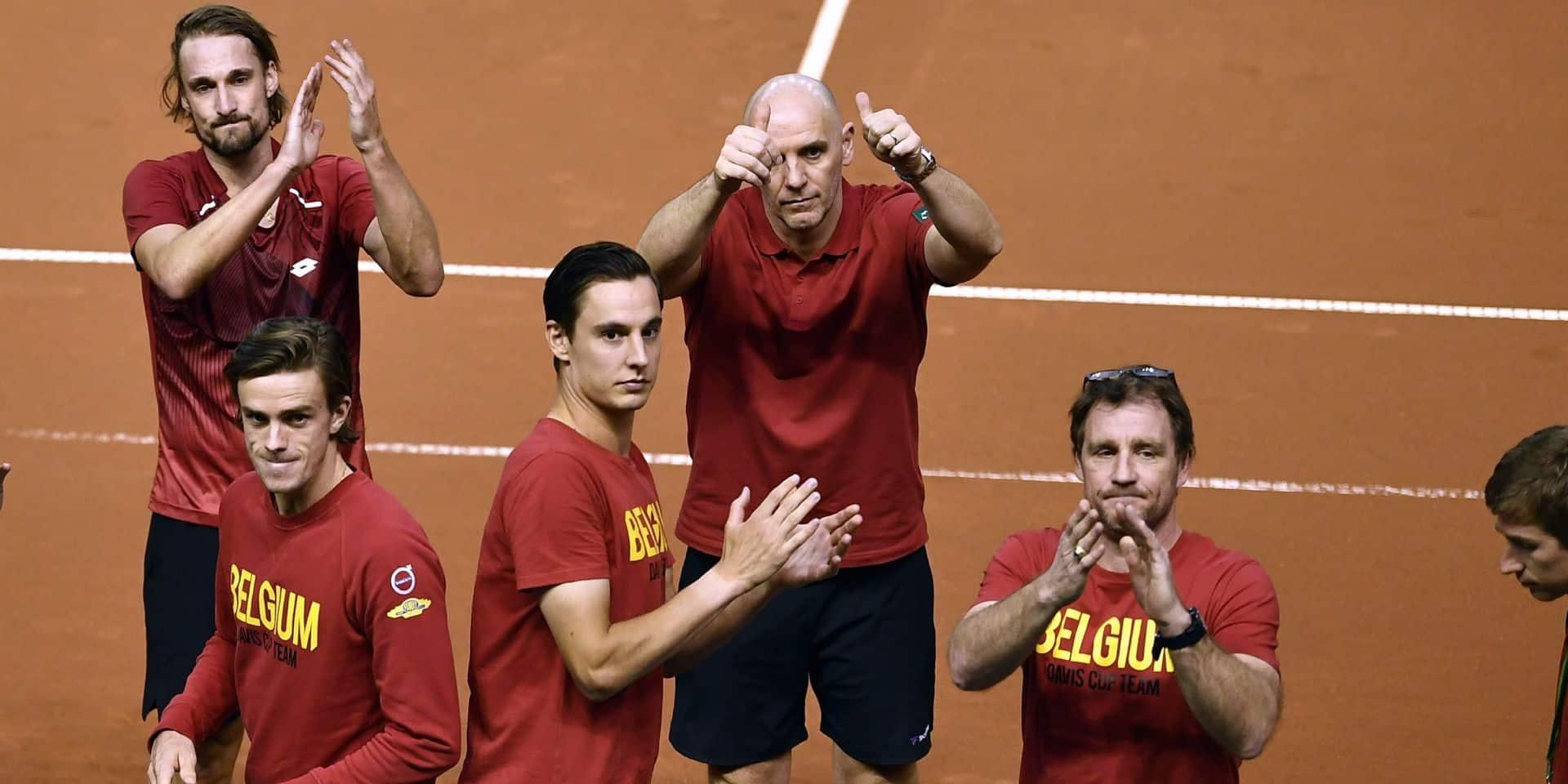 Coupe Davis: la Belgique conserve sa 4e place mondiale avant le tirage au sort de vendredi