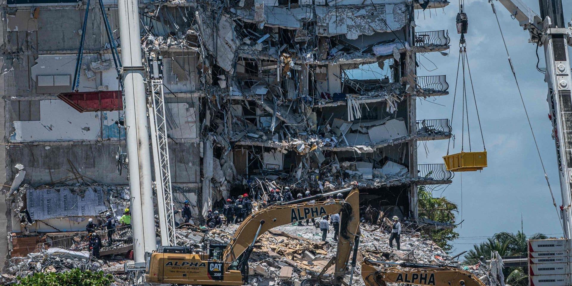 Effondrement d'un immeuble près de Miami Beach: de nouveaux corps retrouvés