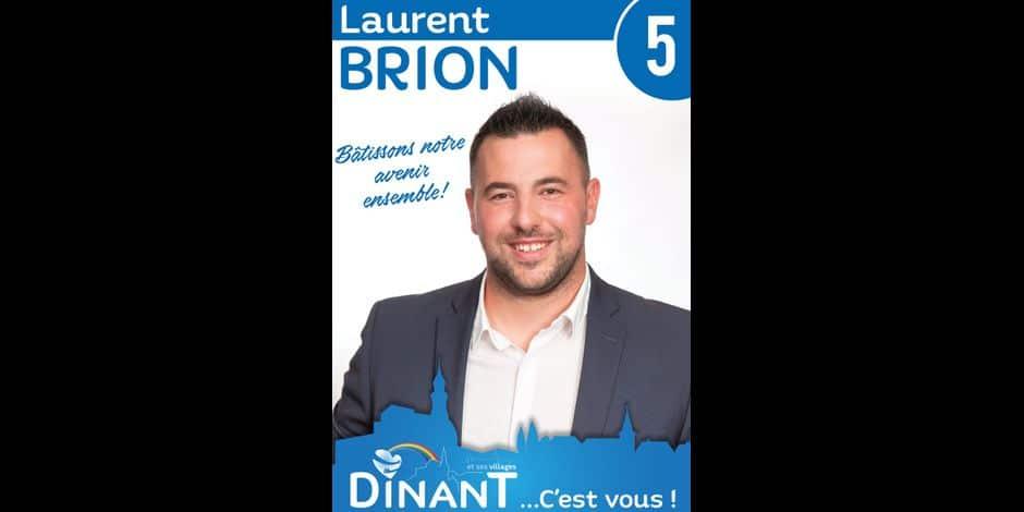 Dinant: Laurent Brion quitte le MR, il évoque des divergences avec le président, Georges-Louis Bouchez