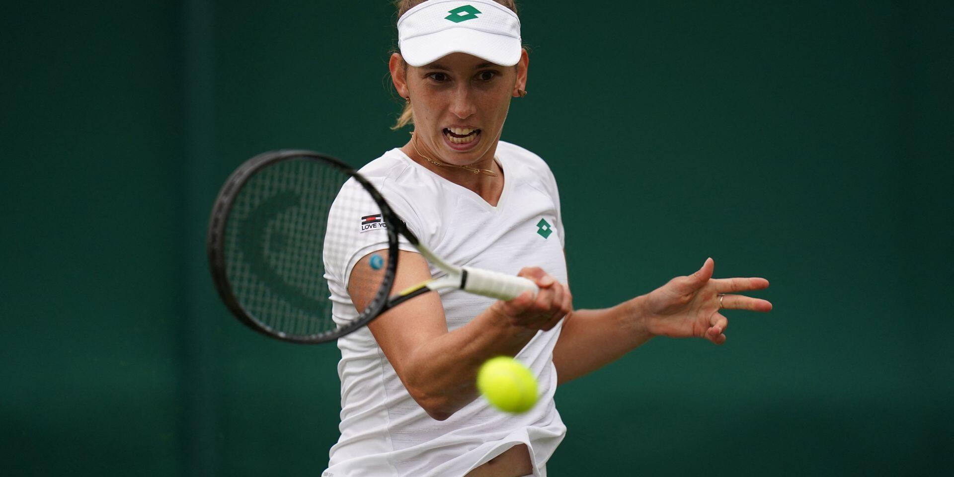 """Elise Mertens doit monter en puissance à Wimbledon: """"J'étais un peu stressée"""""""