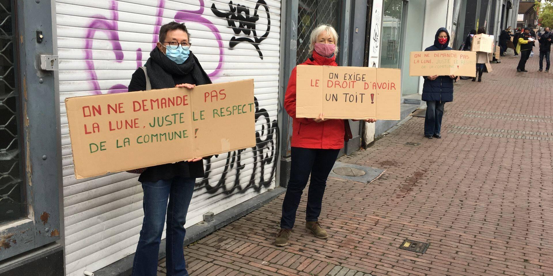 Sit-in protestataire rue de la Montagne: la Ville de Charleroi répond