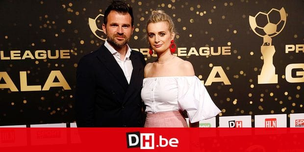 Club Brugge's head coach Ivan Leko and partner pictured on the red carpet at the arrival for the third edition of the Professional Soccer Player of the Year 2018 gala evening, Monday 14 May 2018, in Brussels. BELGA PHOTO THIERRY ROGE