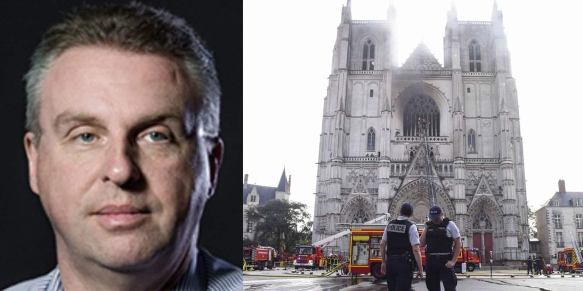 Incendie de la cathédrale de Nantes: le patrimoine chrétien attaqué