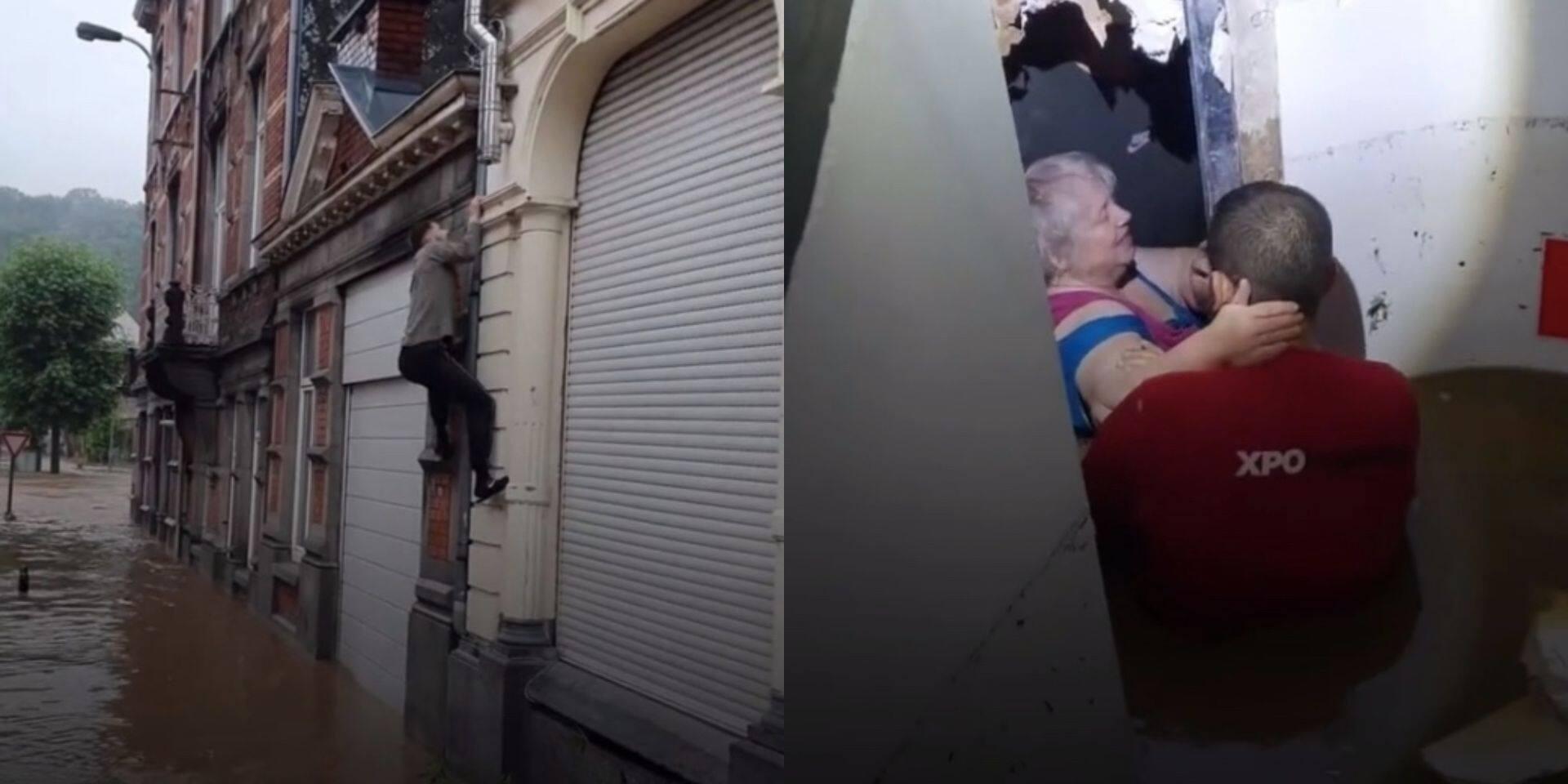 """Un homme grimpe sur une façade pour sauver une personne âgée: """"Tous les héros ne portent pas de cape"""" (VIDEO)"""