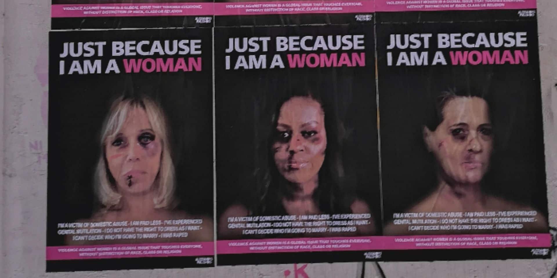 Brigitte Macron ou Michele Obama violentées: l'oeuvre osée d'un artiste italien