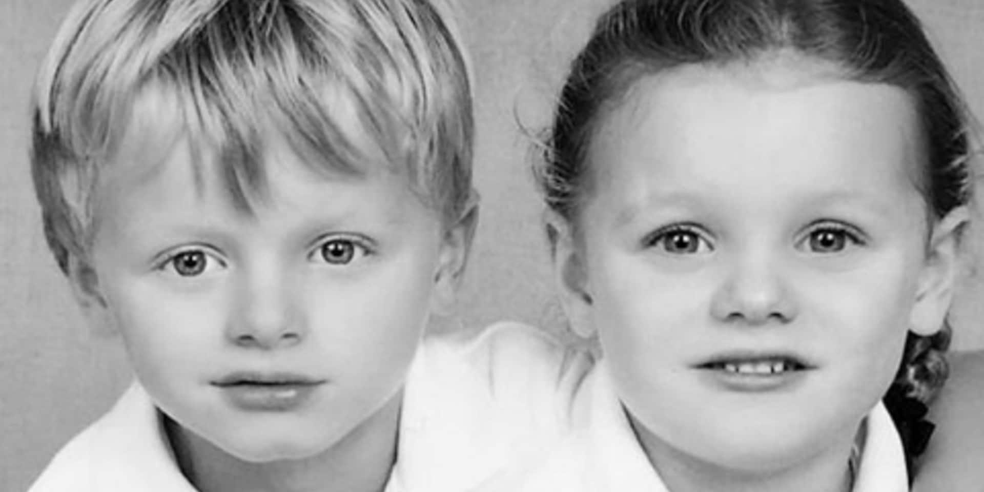 Première photo de classe pour les jumeaux de Charlène de Monaco
