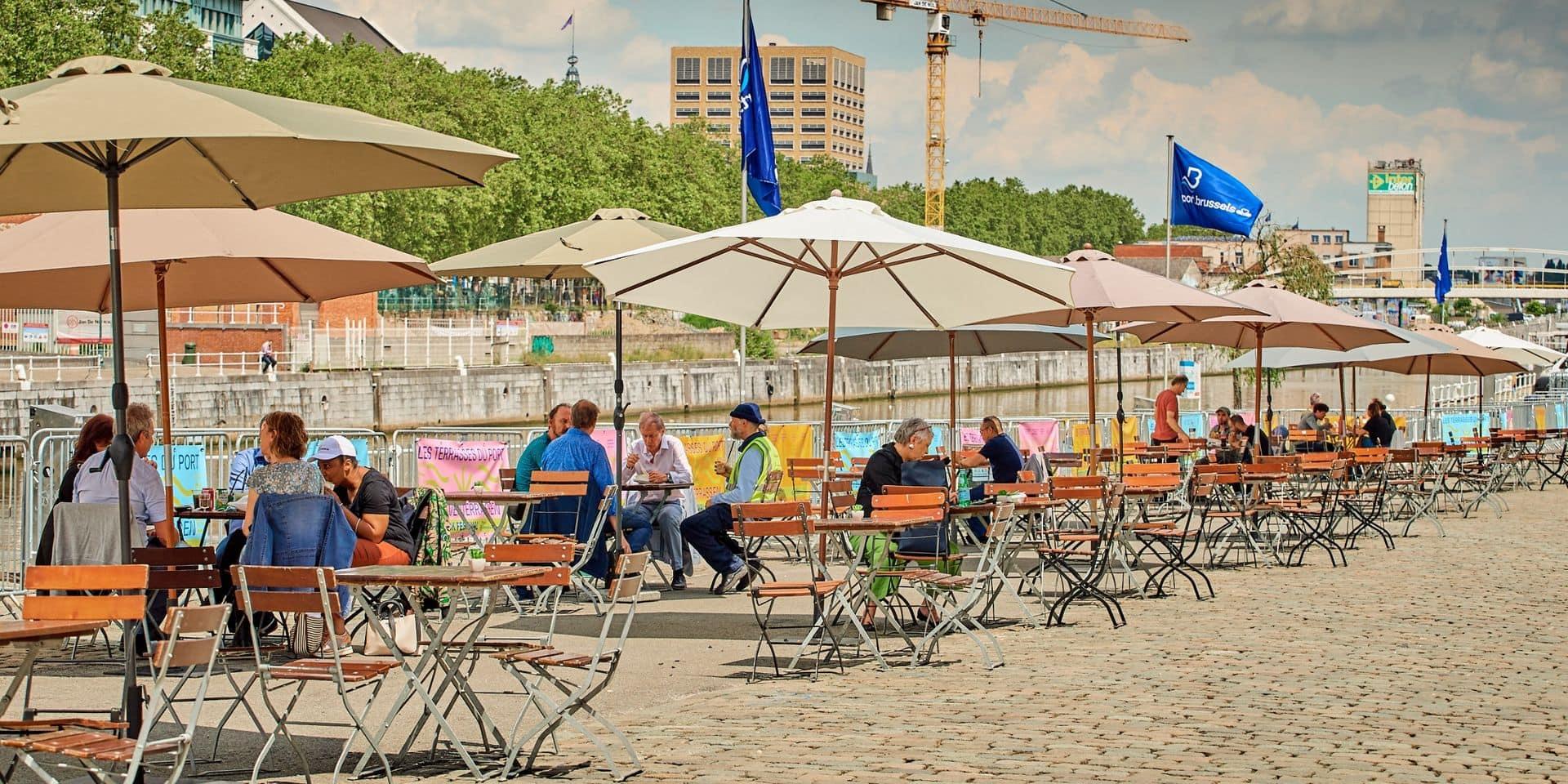 Le Port de Bruxelles ouvre ses terrasses du canal
