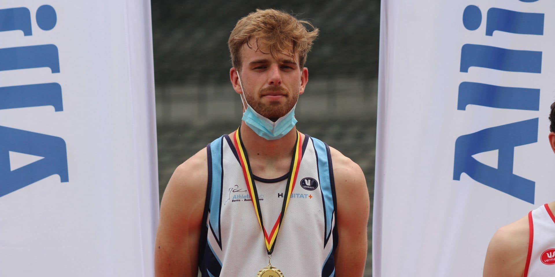 Championnats de Belgique d'athlétisme: Médaille d'or et record personnel pour Robin Bodart à la perche