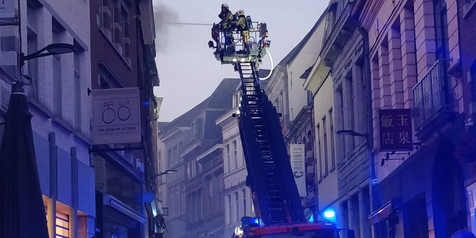 Incendie à la rue de la Coupe à Mons: l'heure est au bilan