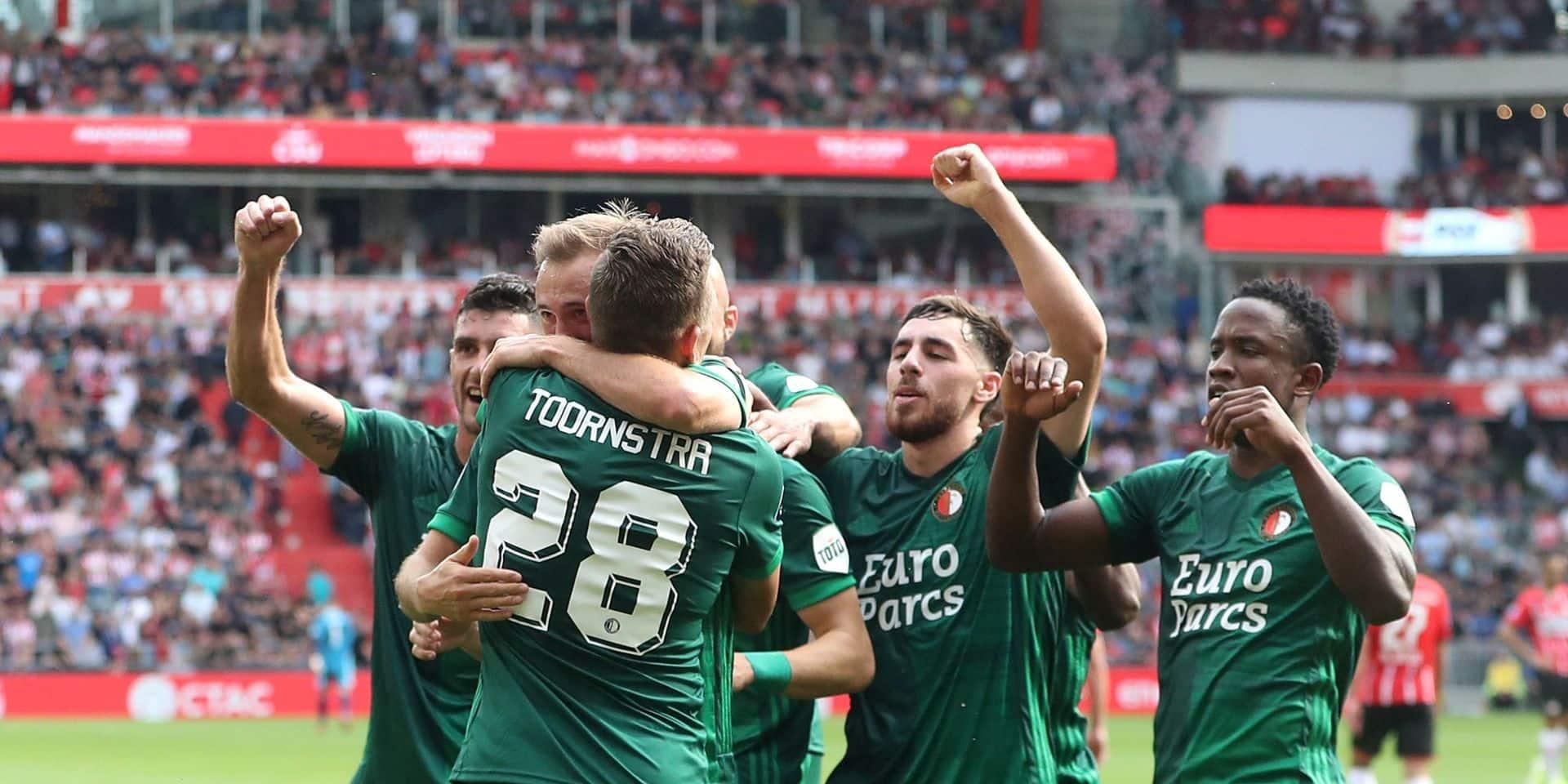 Le PSV s'incline lourdement à domicile contre Feyenoord