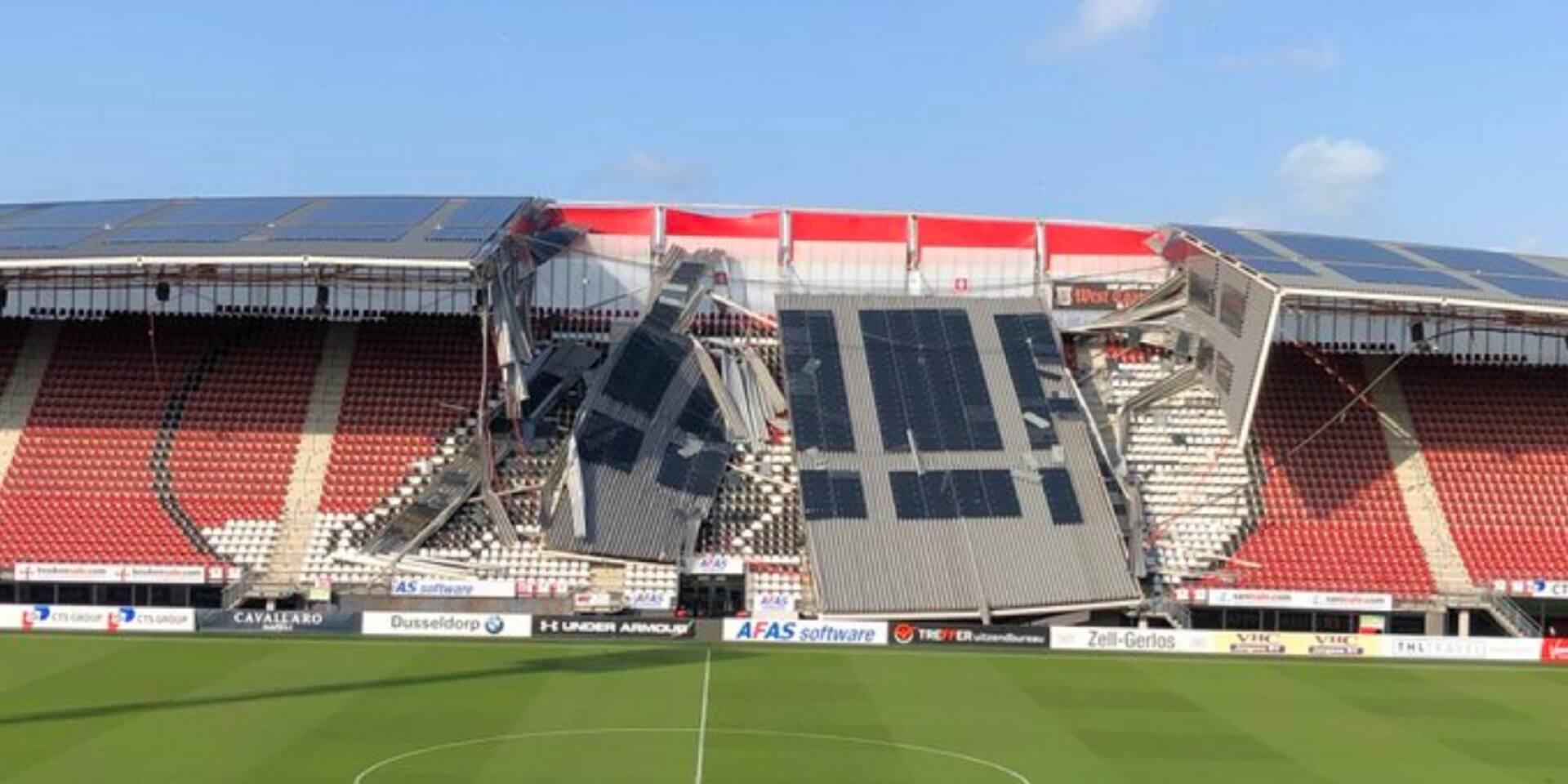 Une partie du toit du stade de l'AZ Alkmaar s'effondre (PHOTO)