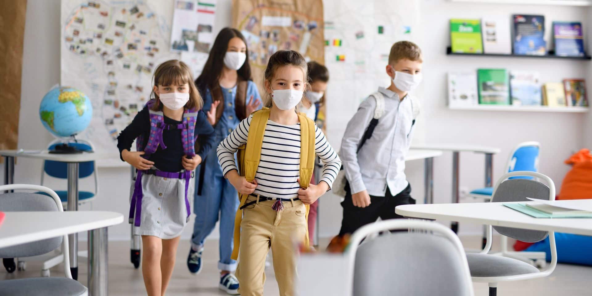 """Deux fois moins d'absents dans les écoles cette semaine: """"L'effet de l'interruption des vacances est nettement perceptible"""""""