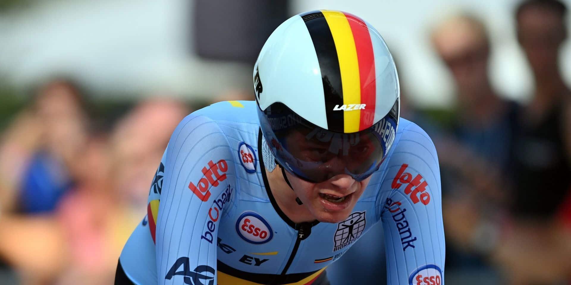 """Pas de médaille pour Cian Uijtdebroeks au Mondial de chrono: """"J'ai tout donné"""""""