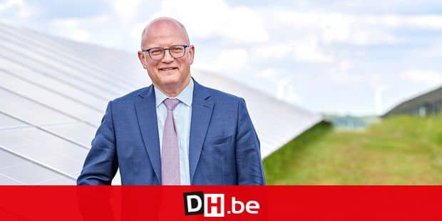 Belgium, Aisemont - May 10, 2019 - Inauguration of the Photovoltaic Park of 8,000 solar panels (Carmeuse) in the presence of the Belgian Walloon Minister for Energy, Jean-Luc Crucke Picture by Eric Herchaft © Reporters Reporters / HERCHAFT
