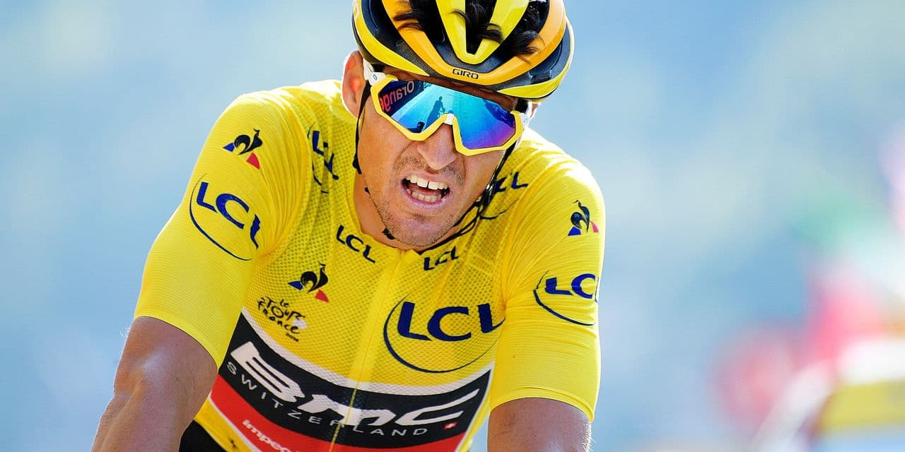 Belgian Greg Van Avermaet of BMC Racing pictured during the arrival of the tenth stage in the 105th edition of the Tour de France cycling race, 112.5 km from Annecy to Le Grand Bornand, France, Tuesday 17 July 2018. This year's Tour de France takes place from July 7th to July 29th. BELGA PHOTO YORICK JANSENS