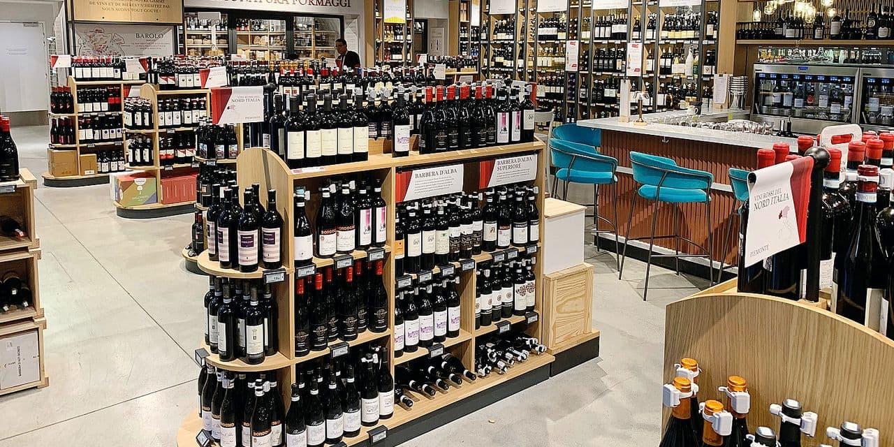 Dans le mégastore parisien de l'épicerie fine italienne: 1.300 vins originaires de la Botte !