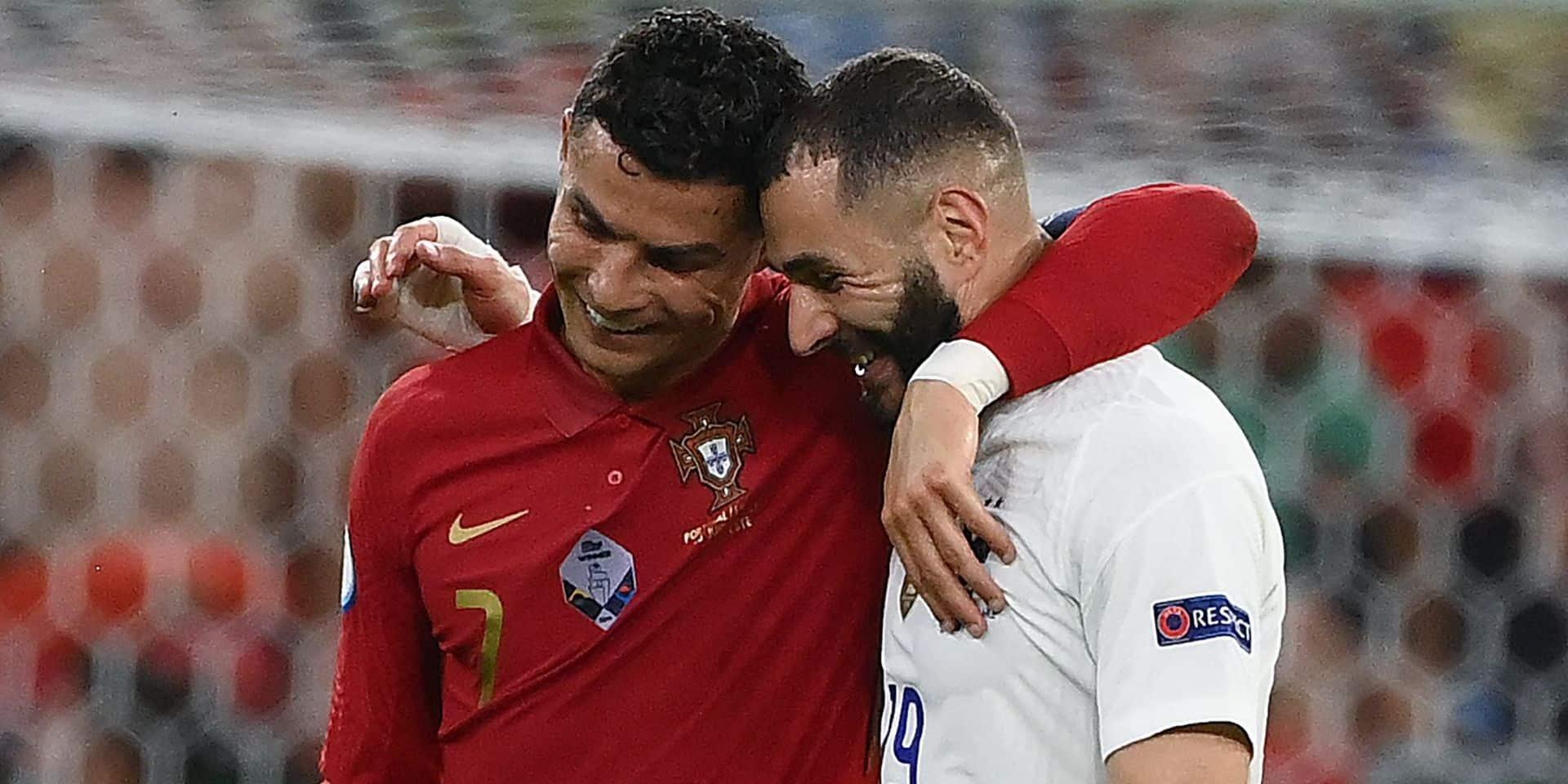 La belle image entre Benzema et Ronaldo pour leurs retrouvailles (PHOTOS)