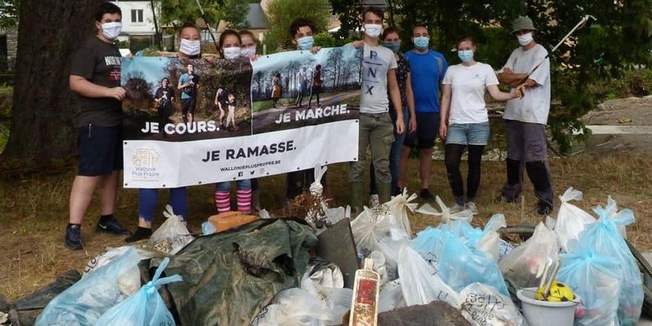Lesse, Lomme et Wamme : des jeunes volontaires ont nettoyé nos rivières
