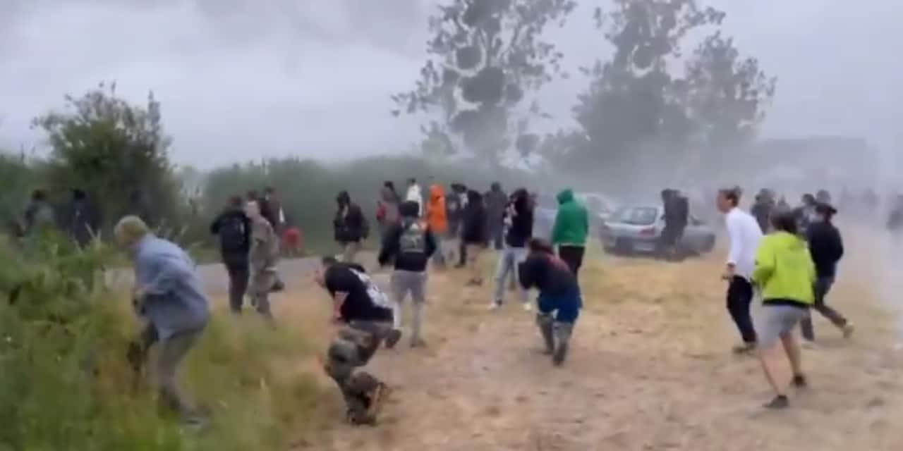 """Une rave party dégénère en Bretagne: 5 gendarmes blessés dans de violents affrontements, """"un jeune de 22 ans a perdu une main"""""""