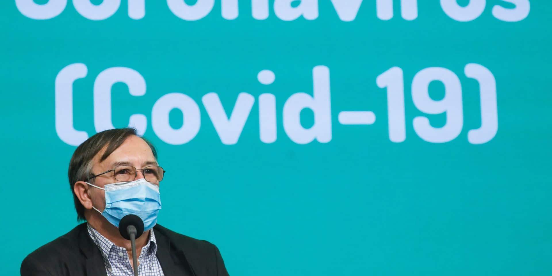 """Yves Van Laethem : """"A la fin de cette semaine, on pourrait atteindre les 10.000 nouveaux cas par jour"""""""
