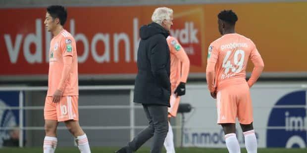 """Rutten ne s'alarme pas après la défaite à Gand: """"Quelques paramètres m'ont plu, aujourd'hui"""""""