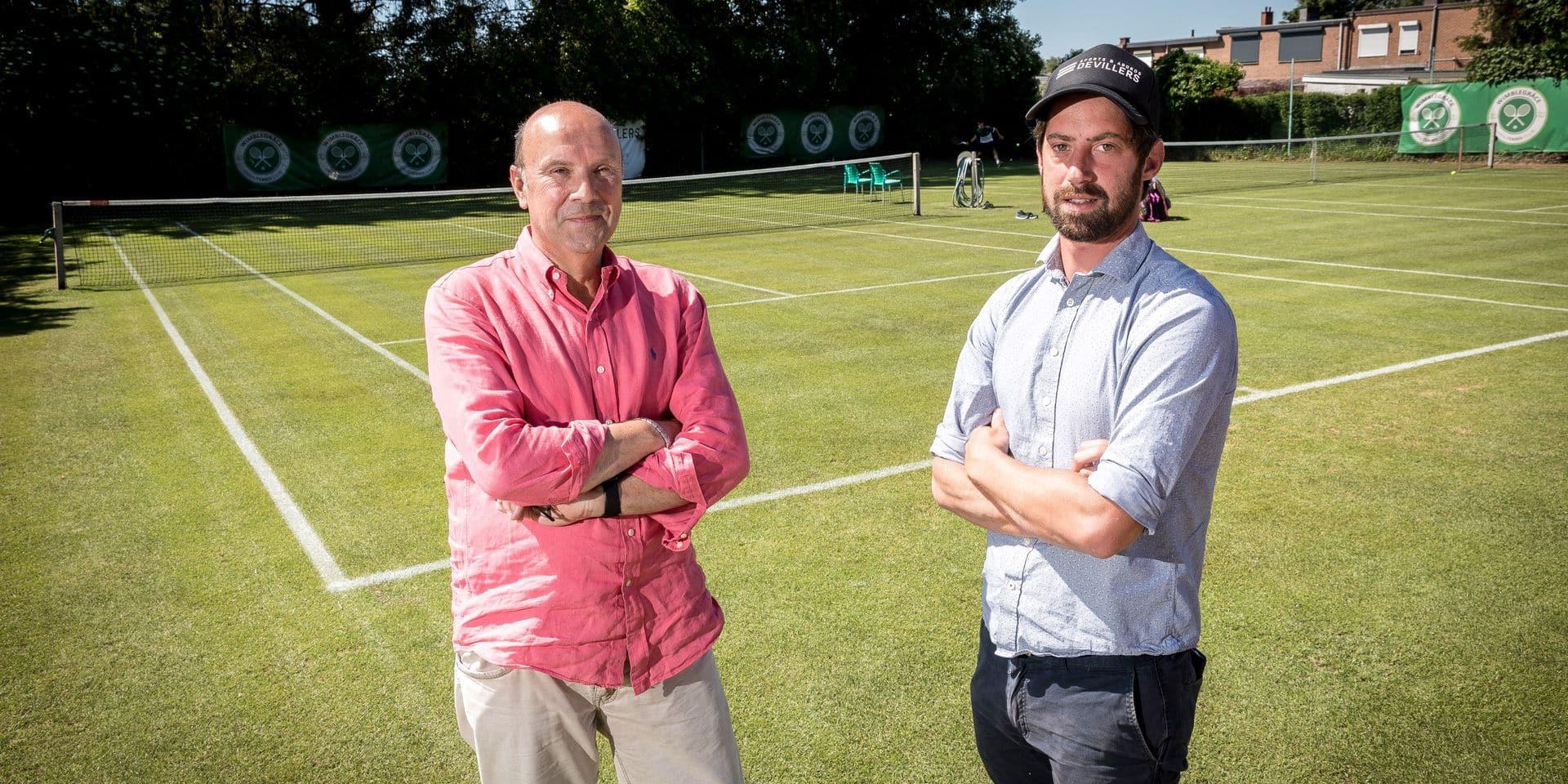 """Du tennis sur gazon en Belgique, c'est possible: """"Ce projet unique est parti d'une idée un peu folle"""""""