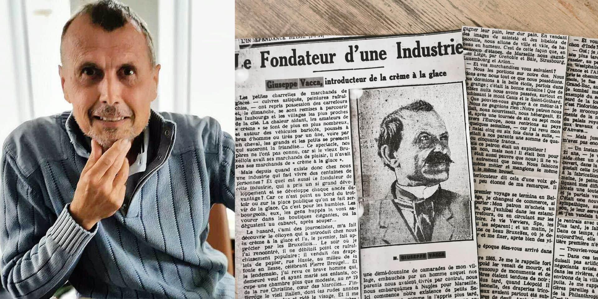 """Jean-Claude n'en a pas cru ses yeux en enquêtant sur les origines de sa famille: """"C'est à mon arrière-grand-père que la Belgique doit la crème glacée"""""""