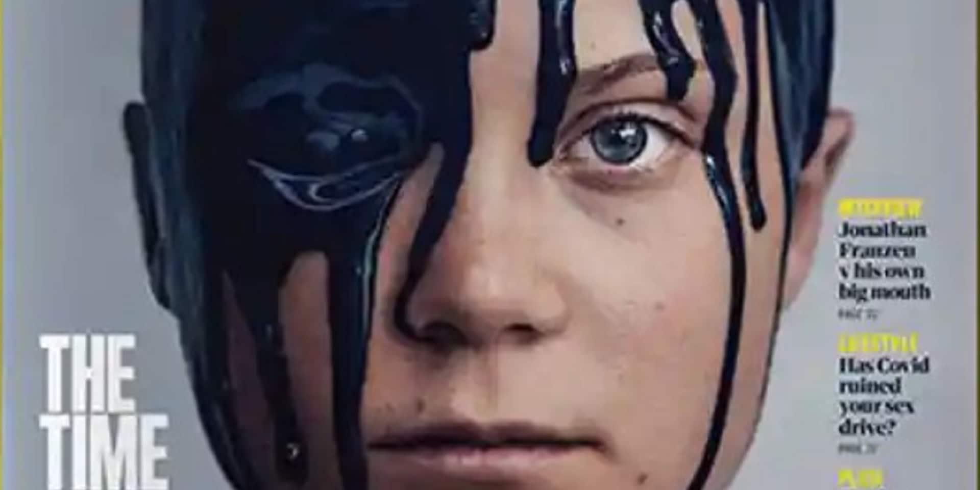 """Les dessous de la photo choc de Greta Thunberg, le visage recouvert de """"pétrole"""""""