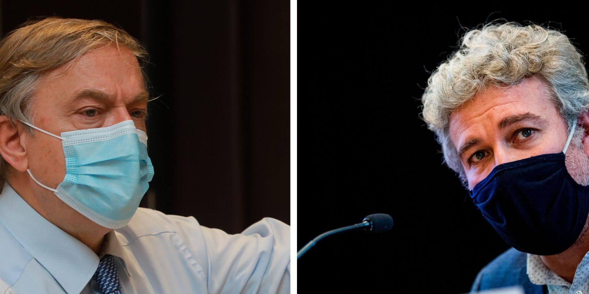 """Ambiance au parlement bruxellois : Alain Maron a-t-il traité Vincent De Wolf de """"connard"""" ?"""