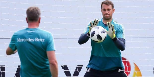 Manuel Neuer devrait faire son retour dans le onze allemand contre l'Autriche samedi - La DH