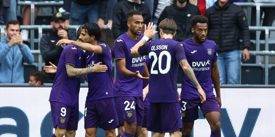 En supériorité numérique, Anderlecht remporte son premier succès de la saison face à Seraing (3-0)