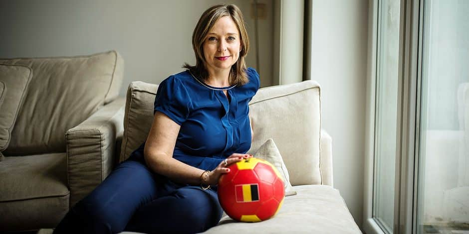 """Christine Schréder, Madame Europa League à la RTBF: """"Je suis fan de foot depuis que j'ai dix ans"""" - La DH"""