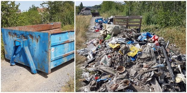 Roux: un pollueur surpris en flagrant délit perd son conteneur - La DH