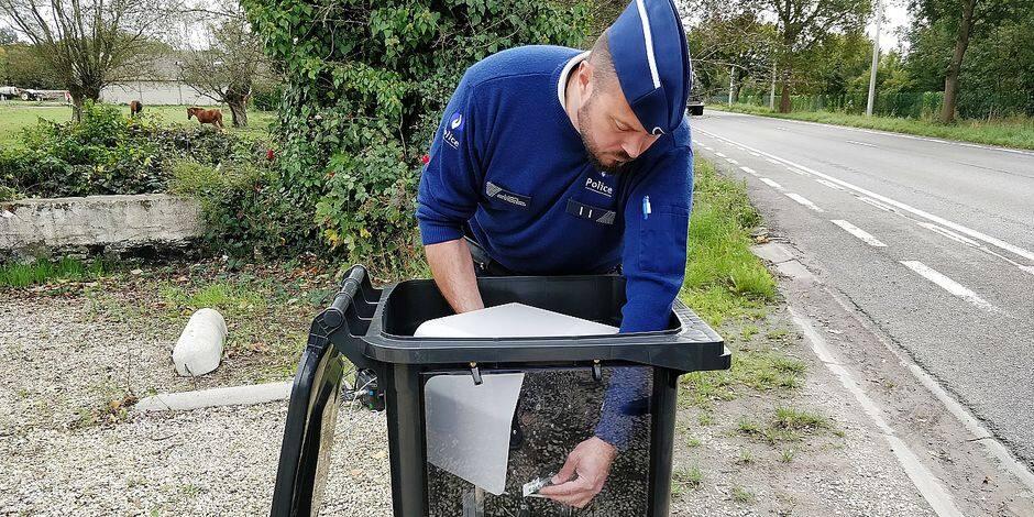 Des radars camouflés sous un treillis, nouvelle technique policière pour flasher les automobilistes