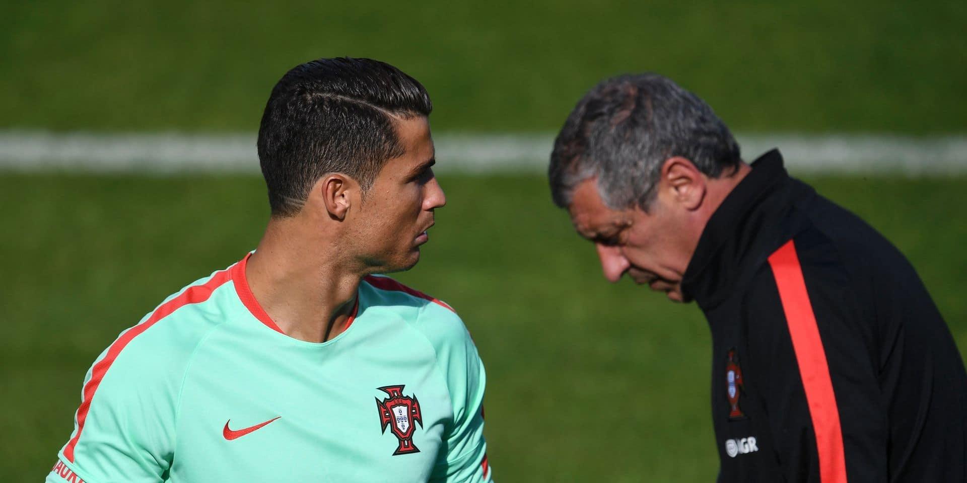 "Fernando Santos s'énerve sur ""le cas"" Cristiano Ronaldo"
