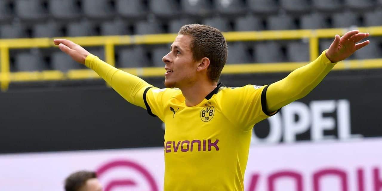 Dortmund et Hazard, à l'assist, s'imposent à Wolfsburg et gâchent le record de Casteels
