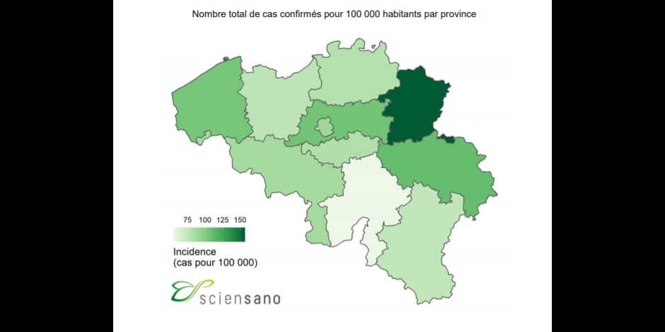 Coronavirus: 268 cas confirmés depuis le début en province de Namur