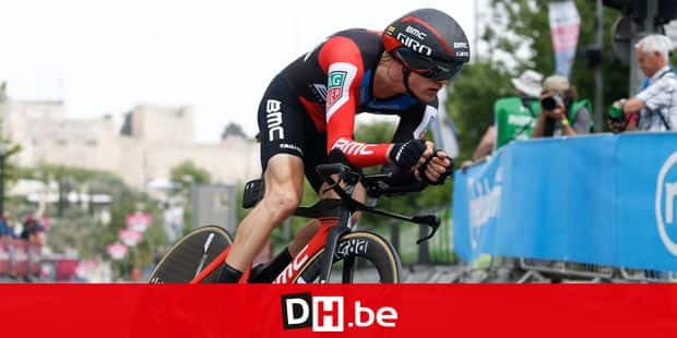 Belgian Loic Vliegen of BMC Racing Team pictured in action during the first stage of the 101st edition of the Giro D'Italia cycling tour, an individual time trial (9,7km) in Jerusalem, Israel, Friday 04 May 2018. BELGA PHOTO YUZURU SUNADA FRANCE OUT